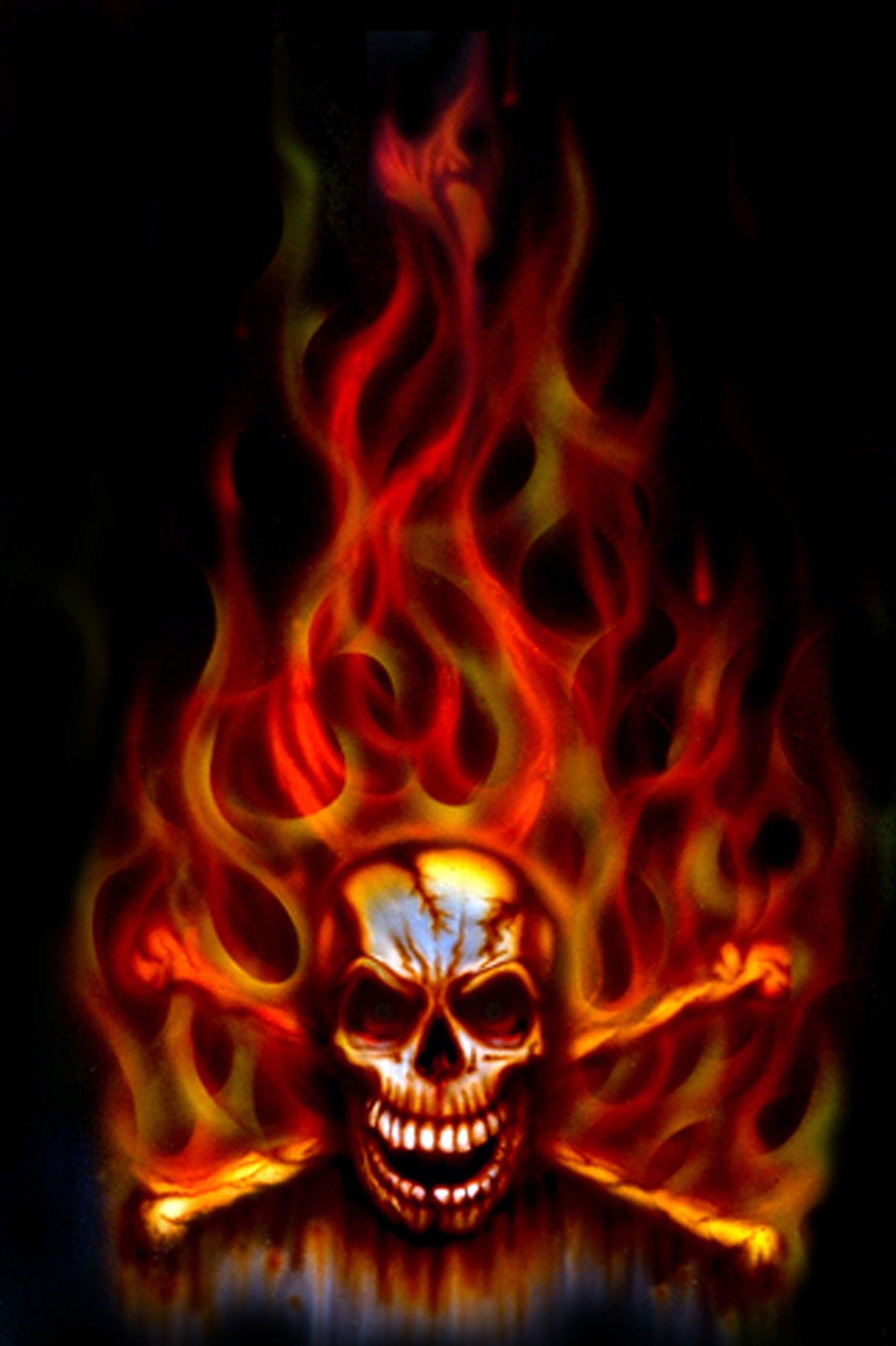 1799x2700 Green Flaming Skull Wallpapers By Molly Dennis 6