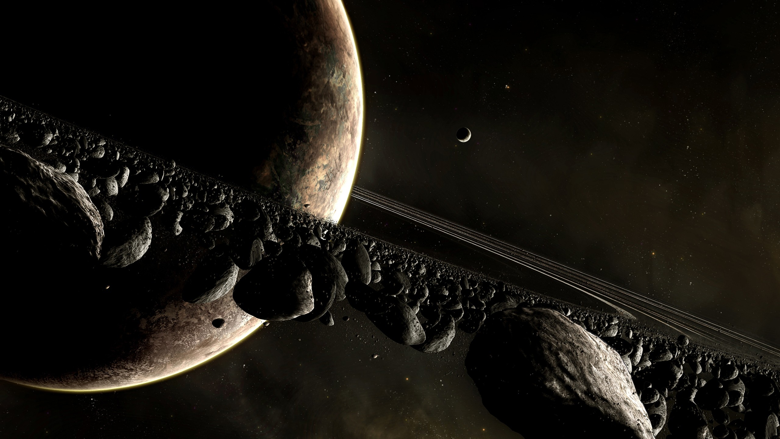 2560x1440 Wallpaper Universe Planet Disaster Space