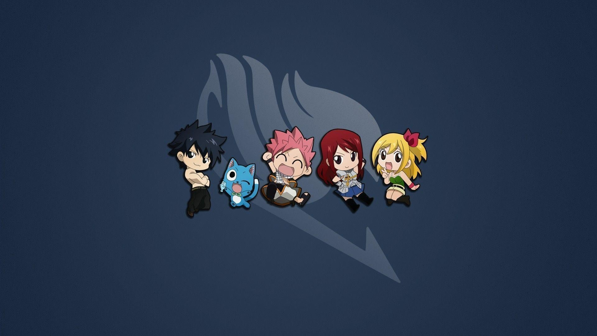 1920x1080 Cute Fairy Tail Characters 14381 Wallpaper HD Free
